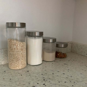 glass storage canisters